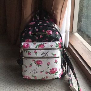 Cute new roses small Betsey Johnson Backpack